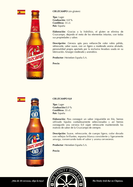Carta cervezas 17x24cm pag1